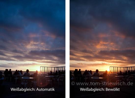 "Weißabgleich ""Automatik"" vs. ""Bewölkt"""