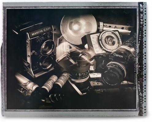Eine einfache Montage durch mehrere vignettierte Belichtungen direkt auf ein Polaroidnegativ.