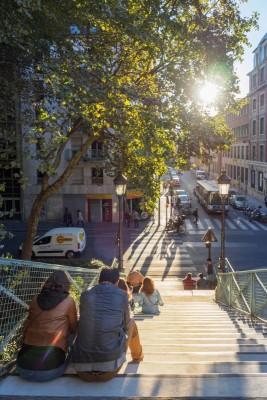 Treppe zur Rue Léon Jouhaux
