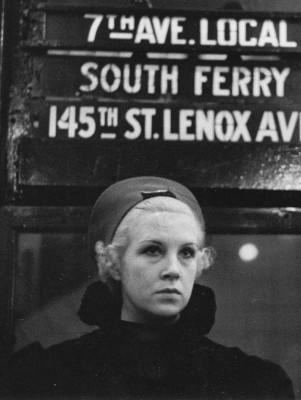 Walker Evans, Subway Portrait, New York, 1938-41
