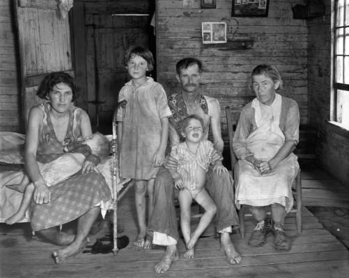 Walker Evans, Sharecropper's Family, Hale County, Alabama 1936