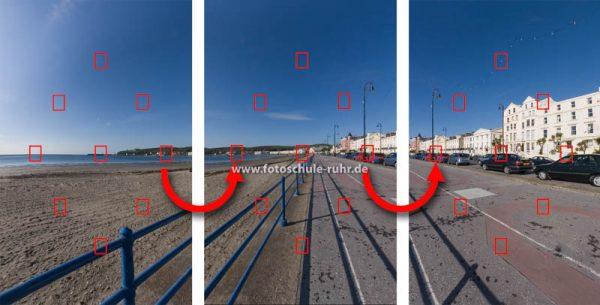 Illustration: Bilder für Panorama ausrichten