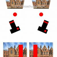 Illustration für Parallaxenprobleme bei Panoramaufnahmen im Bereich Architekturfotografie.