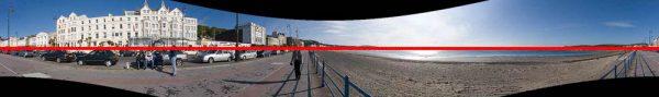 Ein gerade gerechnetes Panorama