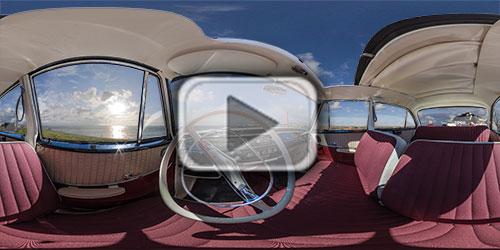 Innenraum eines Opel Rekord Panorama