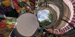 Kugelpanorama (VR) des Ehrenzeller Platzes in stereographischer Projektion