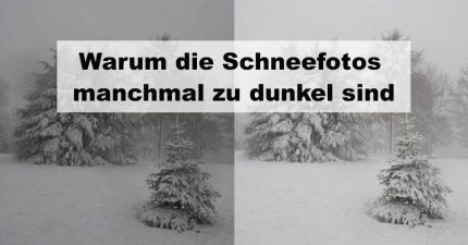 """Titelbild zu """"Warum die Schneefotos zu dunkel sind"""""""