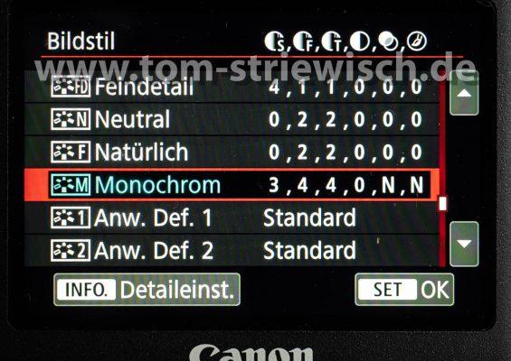 """Illustration zu """"Einstellung auf Monochrome an einer Canon 5DMKIV"""""""