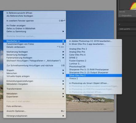 """Illustration zu """"Silver Efex Pro 2 aus Lightroom starten"""""""