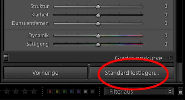 "Illustration zu ""Lightroom Standard festlagen"""