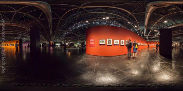 """Illustration zum Kugelpanorama """"Photokina 2012 Halle1_01"""""""