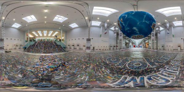 "Illustration zum Kugelpanorama ""Photokina 2014 Bilderwelt"""