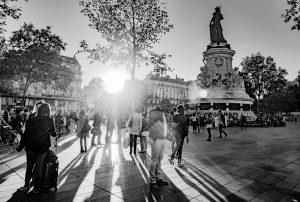 """Illustration """"Paris im Ggegenlicht"""""""