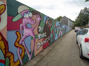 """Illustration zur Lage vor Ort beim Graffiti """" In the Hood"""""""